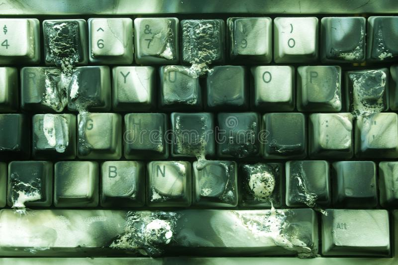 Burnt Keyboard royalty free stock photo