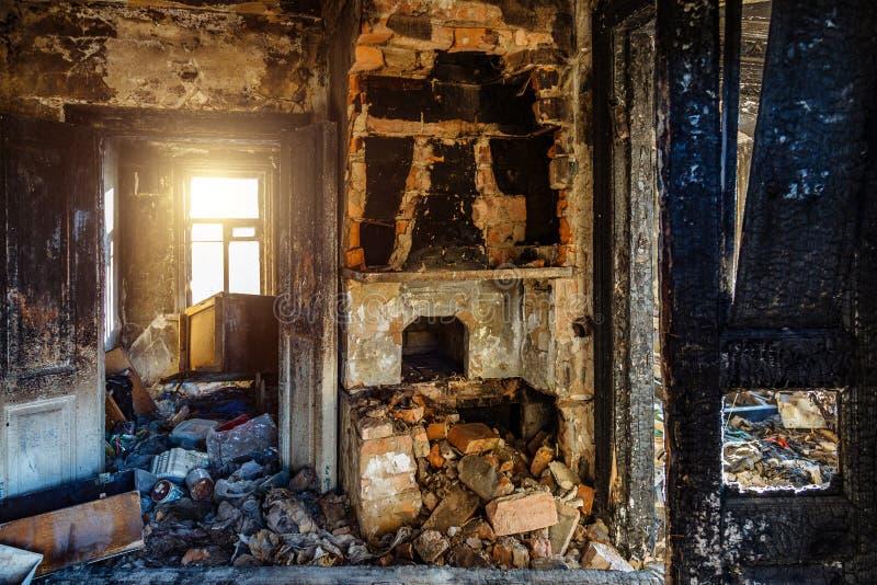 Burnt Room Interior Burnt Still Life Charred Wall