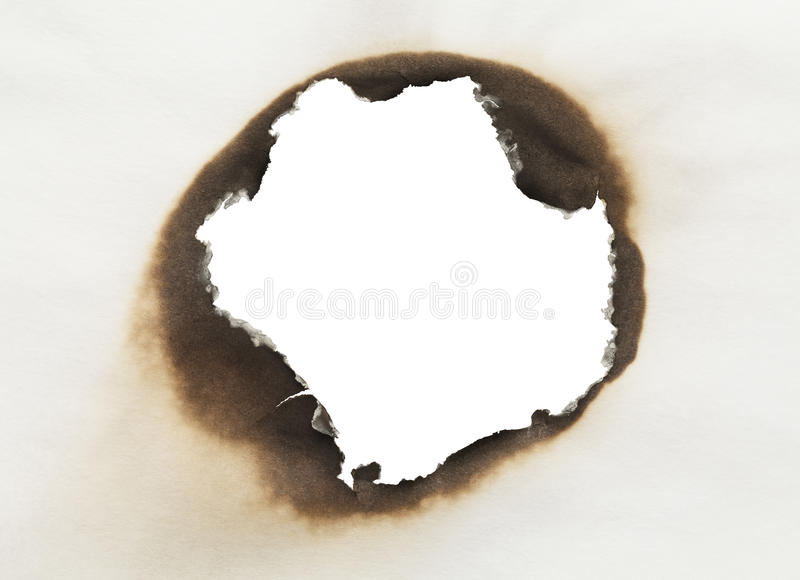 Burnt Paper Circle stock image