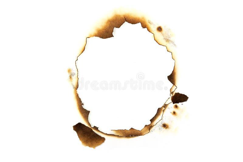 Burnt paper royalty free stock photos