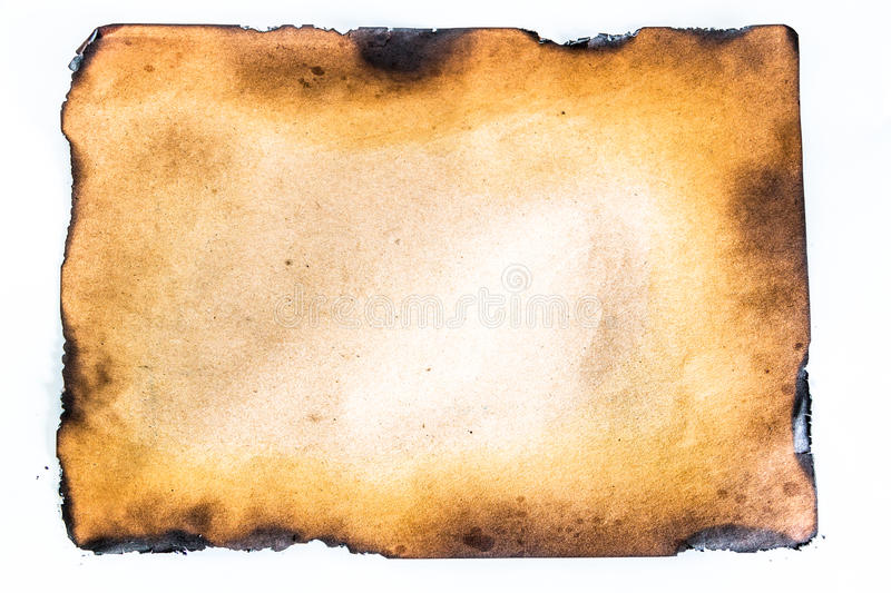 burnt paper. royalty free stock image