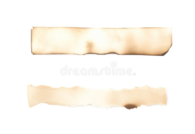 Burnt paper sheet isolated stock images