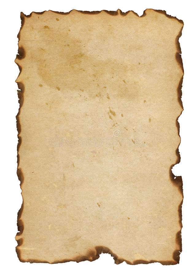 Burnt papier obraz stock