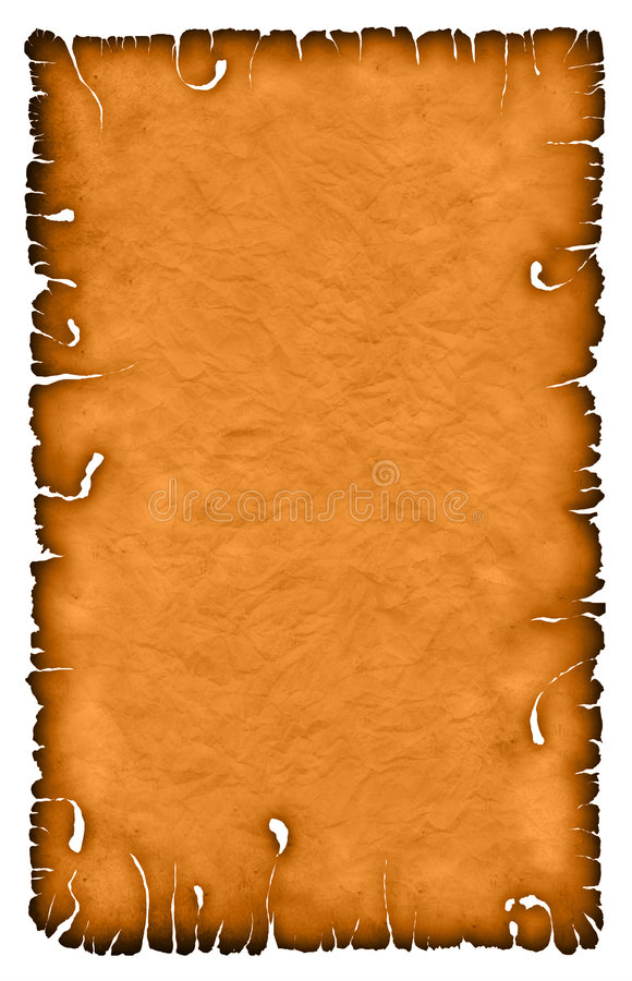 Burnt sheet with texture stock illustration