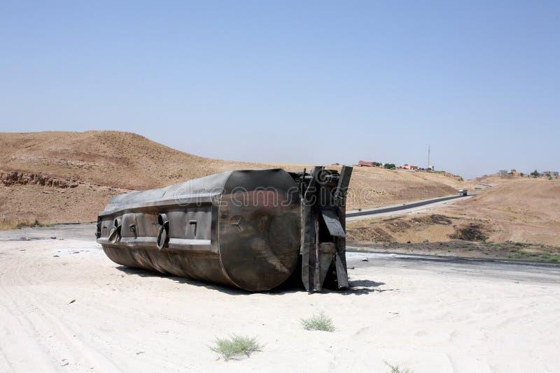 Burnt tankowiec zdjęcia royalty free