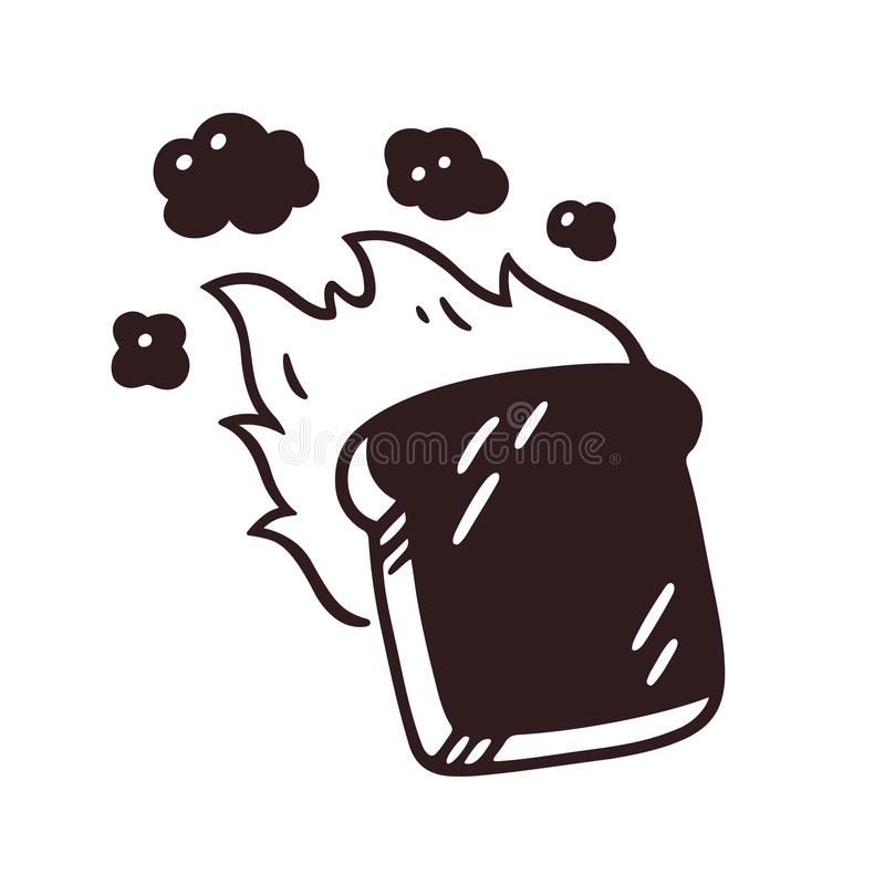 Free Burnt Toast Drawing Royalty Free Stock Images - 130102759