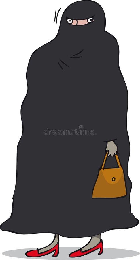 Burqa stock de ilustración