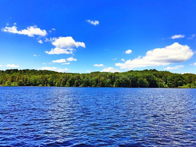 Burr Pond-de mening van de het parkzomer van de staat stock afbeeldingen