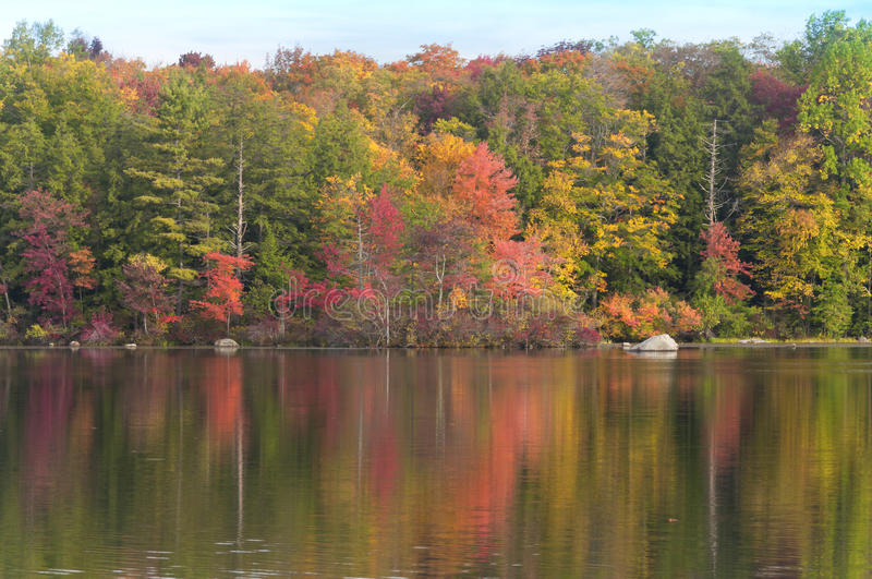 Burr Pond State Park Torrington Connecticut stockfoto