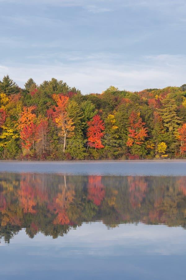 Burr Pond State Park Torrington Connecticut lizenzfreie stockbilder