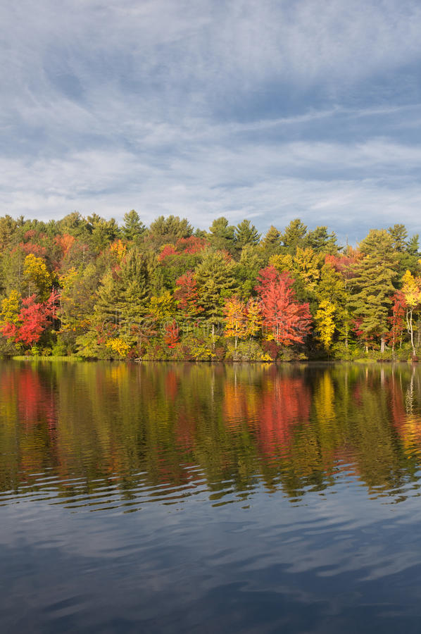 Burr Pond State Park Torrington Connecticut. Fall Foliage at Burr Pond State Park in Torrington Connecticut during New England Autumn royalty free stock photography