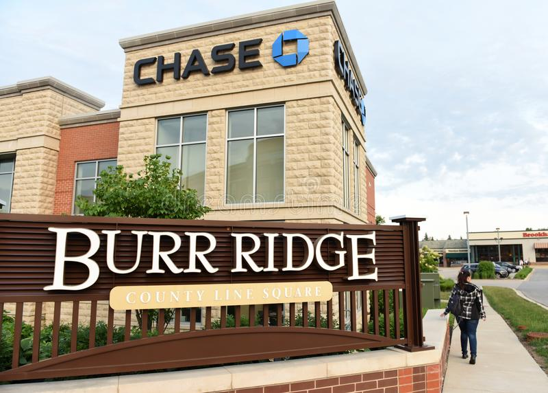 Burr Ridge, Illinois, USA, USA - June 07, 2018: Burr Ridge villa. Ge a suburb of Chicago stock photo