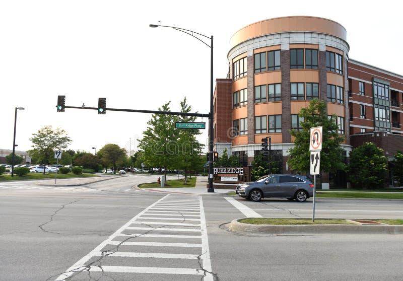Burr Ridge, Illinois, USA, USA - June 07, 2018: Burr Ridge villa. Ge a suburb of Chicago stock image