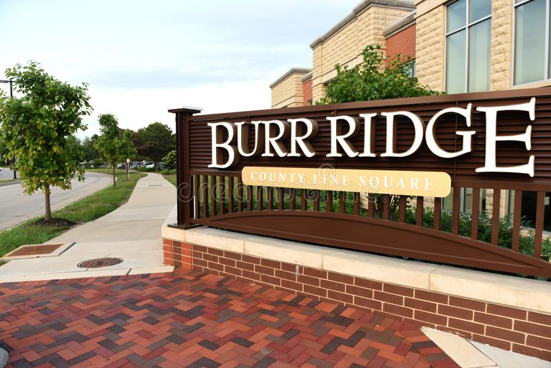 Burr Ridge, l'Illinois, Etats-Unis, Etats-Unis - 7 juin 2018 : Villa de Burr Ridge images stock