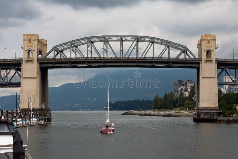 Burrard Brücke Granville Insel Vancouver Kanada stockfotografie