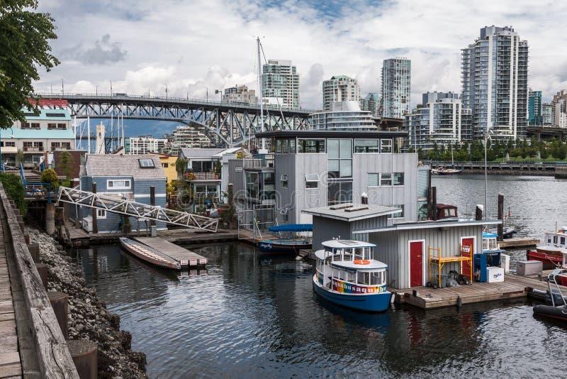 Burrard-Brücke Granville Island Vancouver Canada stockfoto