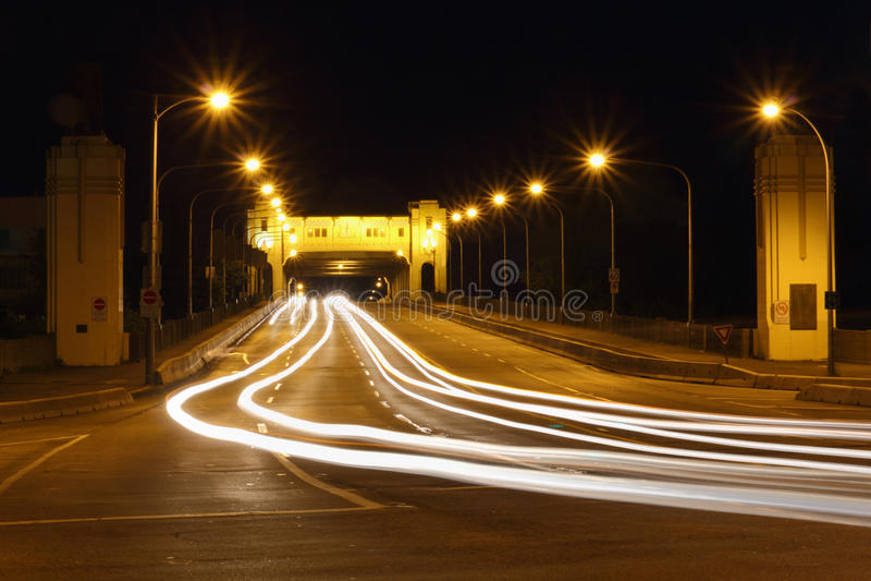 Burrard Bridge Night, Vancouver stock photos