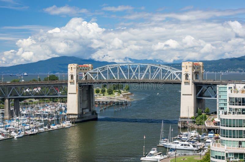 Burrard Bridge stock image