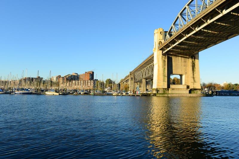 Burrardbrug, Vancouver, BC, Canada stock foto's