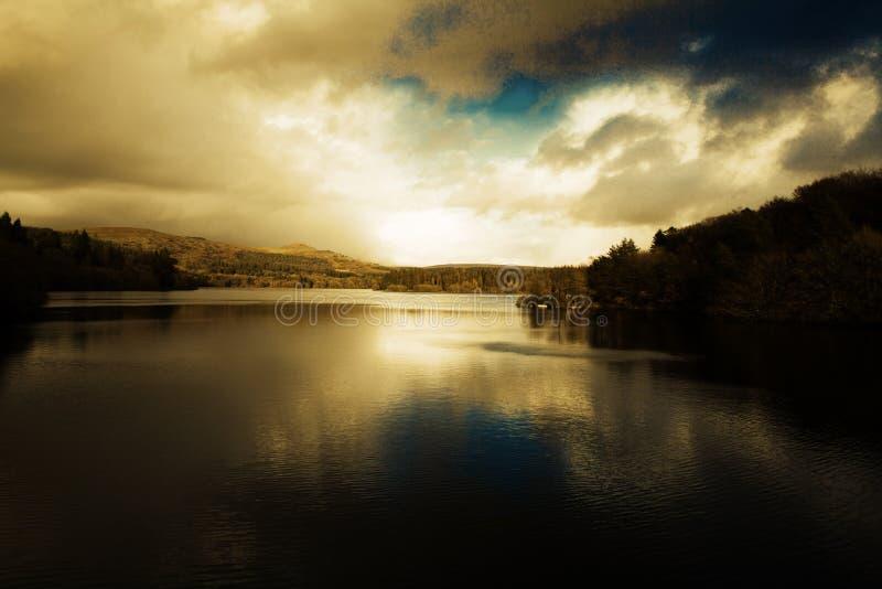 burrator reservoir stock photo