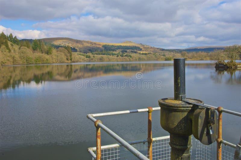 Burrator reservoir Dartmoor. Reflections on Burrator reservoir Dartmoor Devon stock photos
