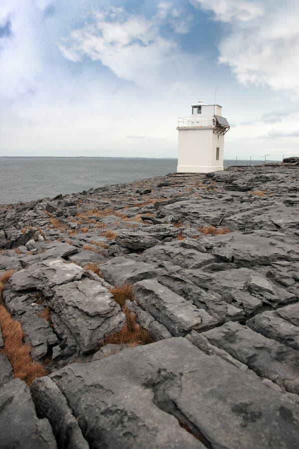 burren latarnię morską zdjęcie royalty free