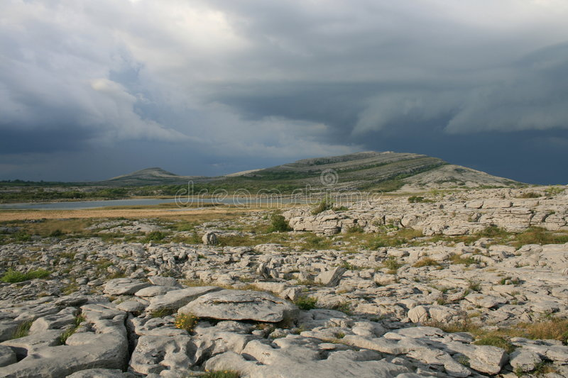 Download Burren thunderstorm stock photo. Image of lake, rocky - 5340210