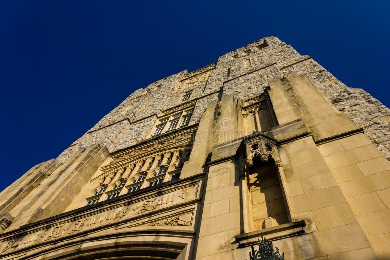 Burruss Hall at Virginia Tech University royalty free stock images