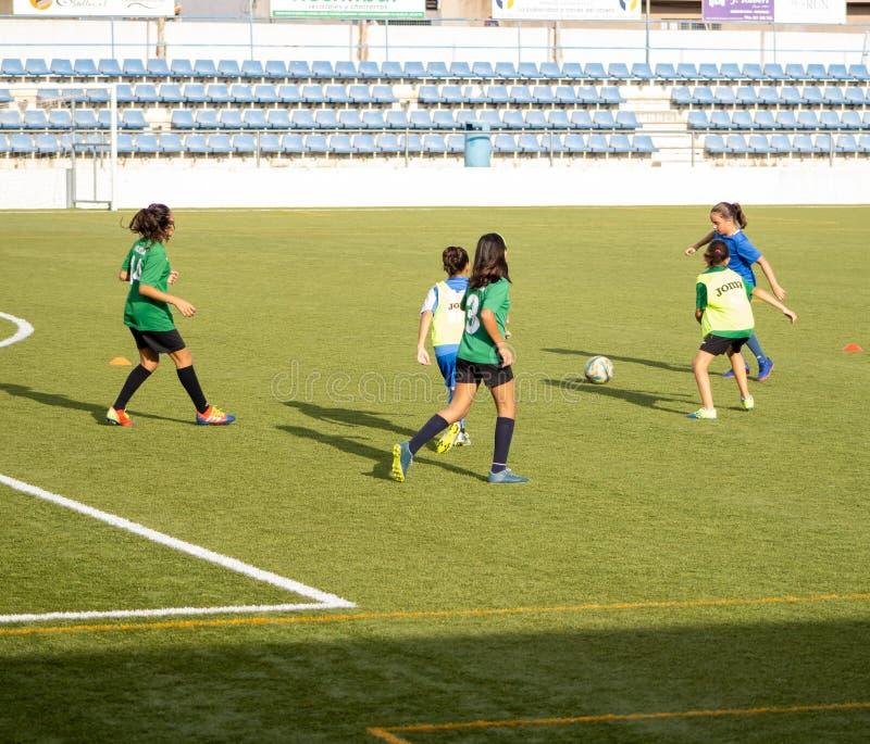 Burriana, Ισπανία 9/17/2019: Εκπαίδευση γυναικών ποδοσφαίρου στοκ φωτογραφία με δικαίωμα ελεύθερης χρήσης