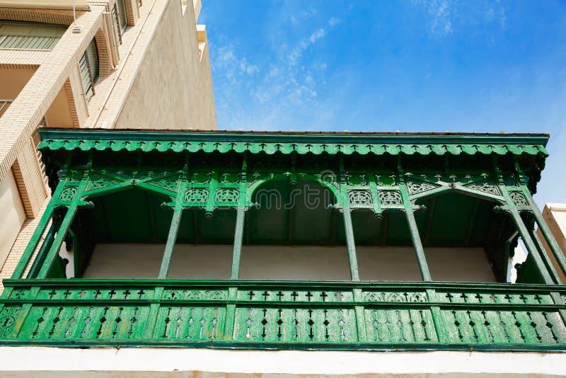 Burriana-Fassaden in Castellon von Spanien stockfoto