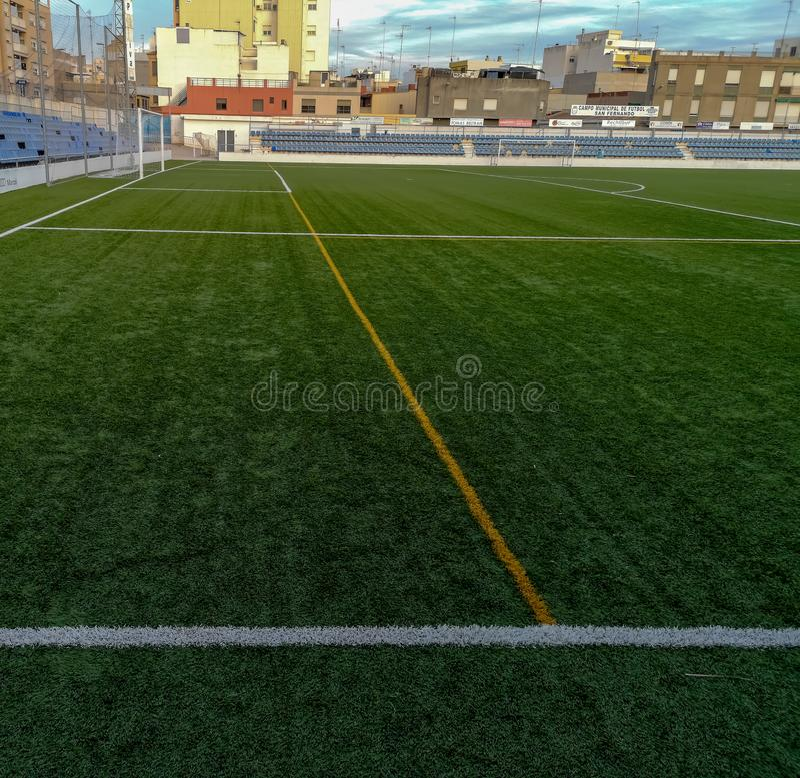 Burriana, Spanien 11/29/18: San Fernando Stadium lizenzfreies stockfoto