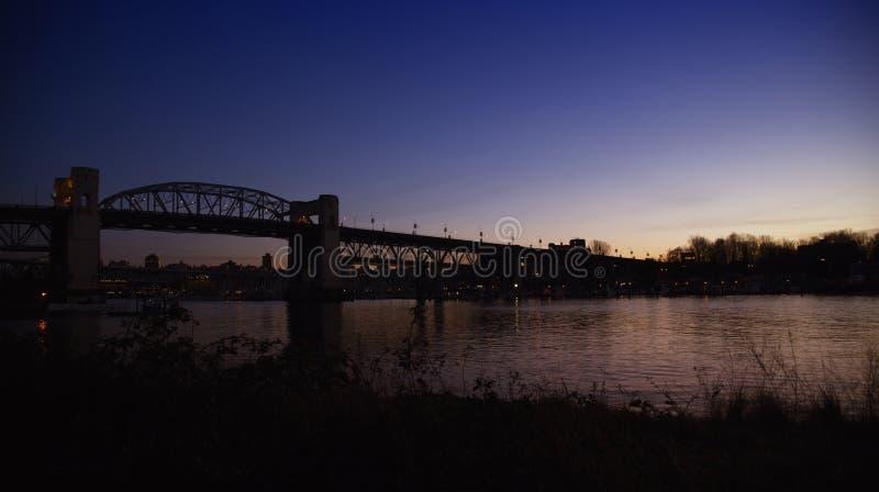 Burriard most w Vancouver zdjęcie stock