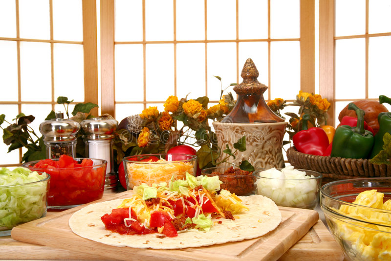 burrito завтрака стоковое фото