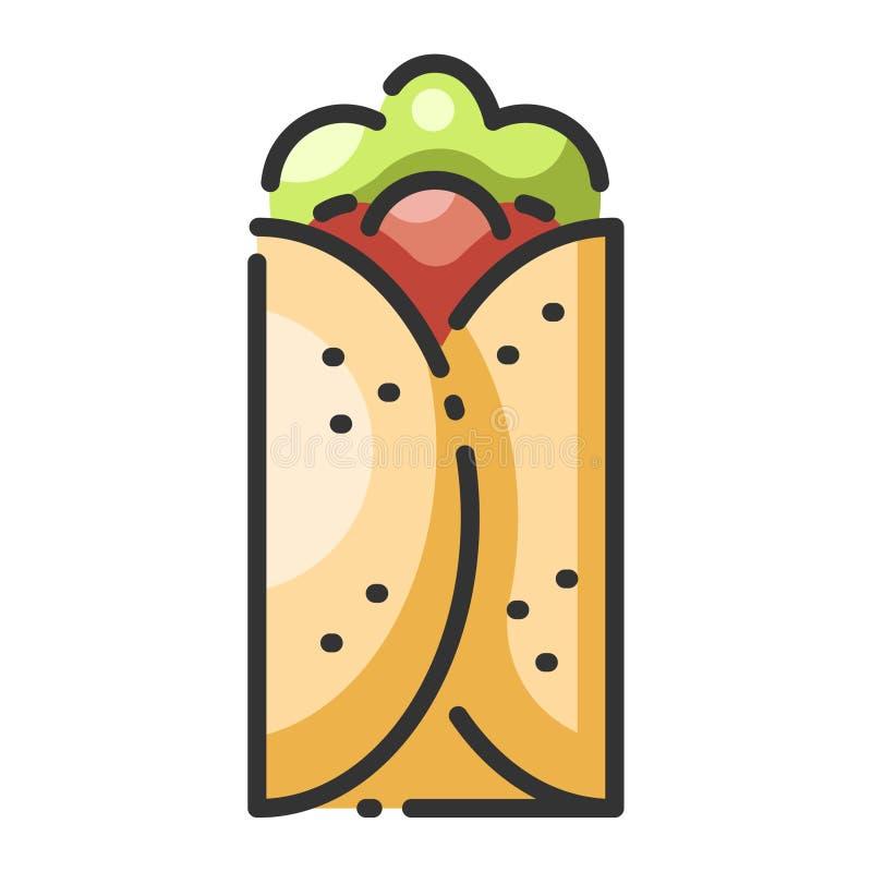 burrito illustration libre de droits