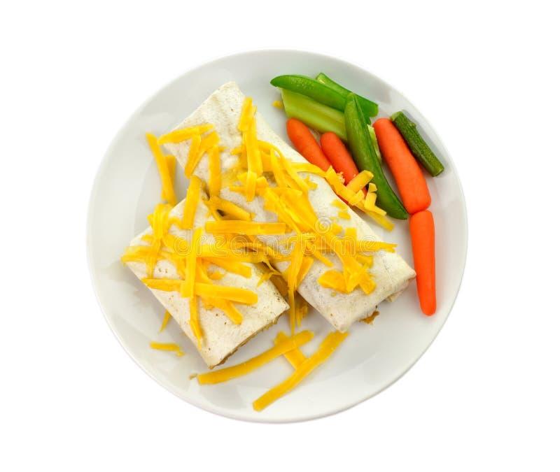 Download Burrito stock image. Image of lunch, burrito, dish, shredded - 18240905