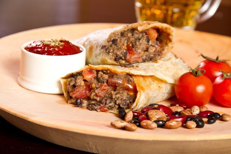 Burrito royalty-vrije stock foto