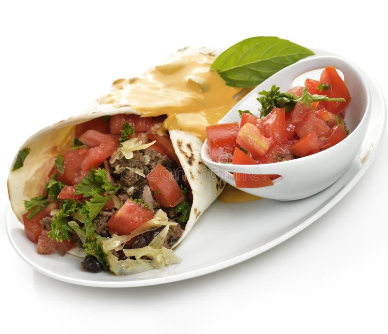 Burrito fotografia stock