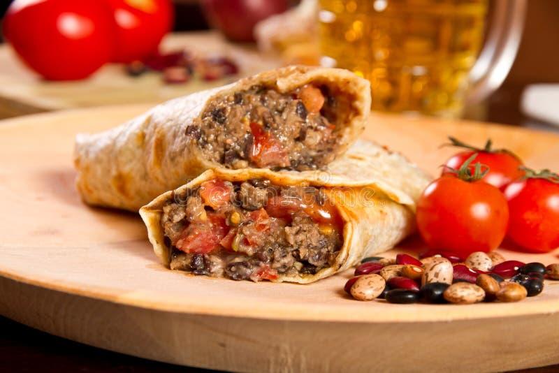 Burrito immagine stock