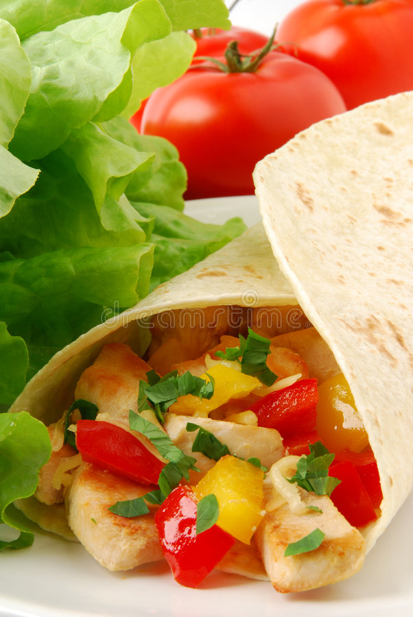 Download Burrito stock image. Image of tortilla, taco, chicken - 6438001