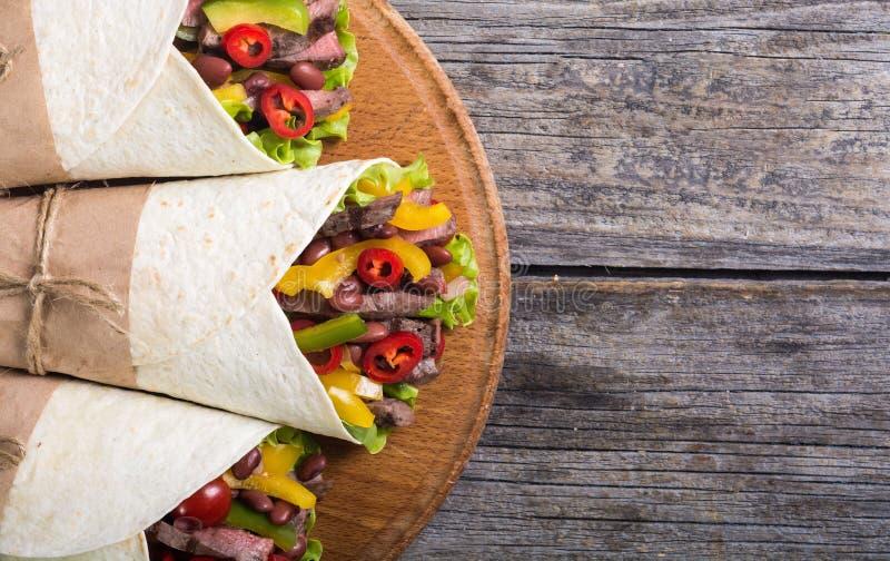 Burrito avec du boeuf photos libres de droits