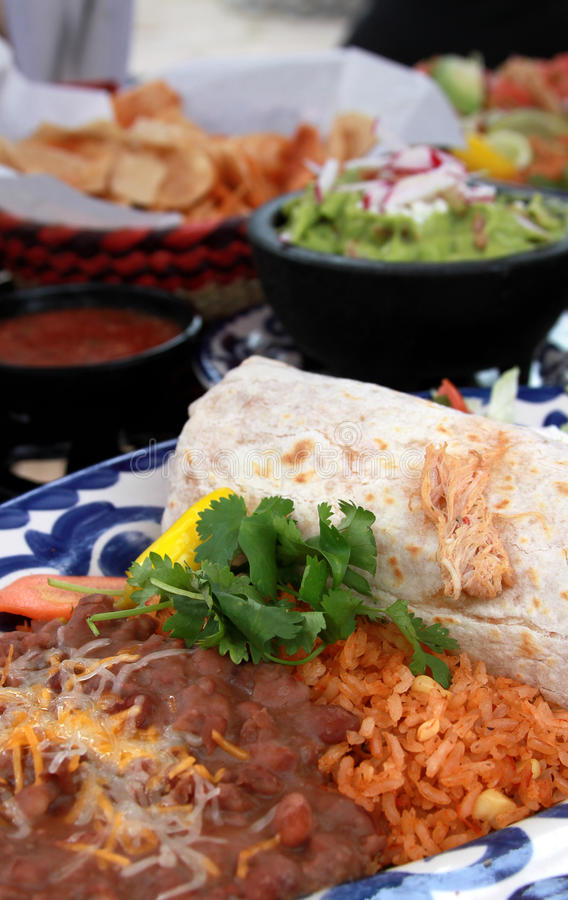 Burrito beans and rice royalty free stock image