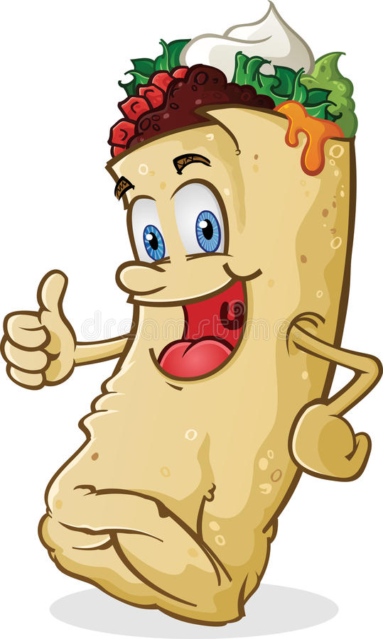 Burrito Charakteru Aprobaty royalty ilustracja
