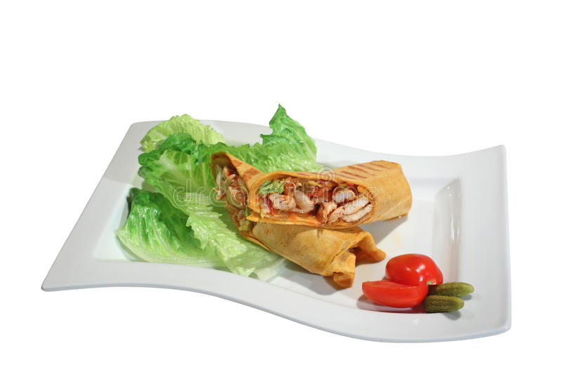 Download Burrito with chicken stock photo. Image of eating, meal - 13508960