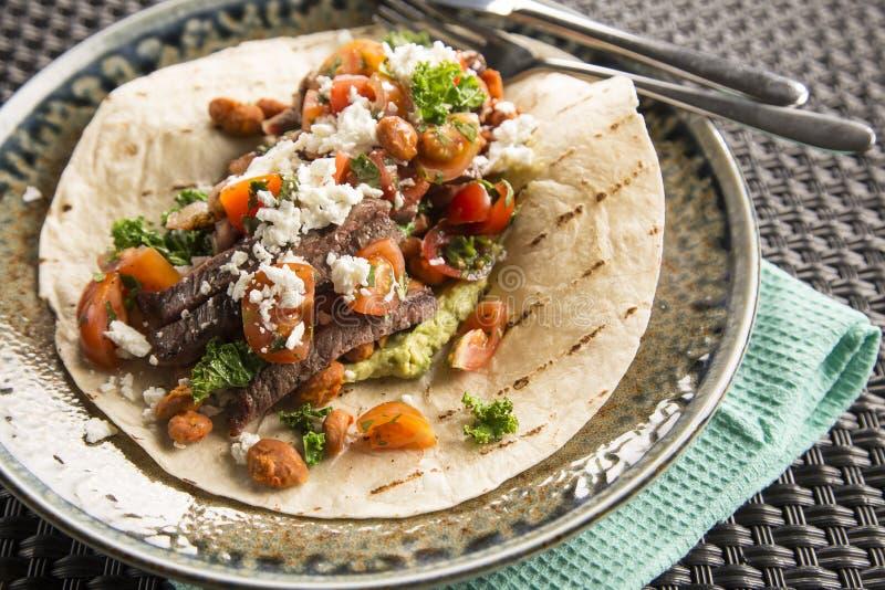 Burrito de boeuf images libres de droits