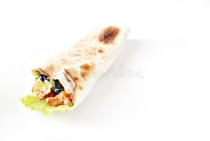 Burrito de poulet photo stock