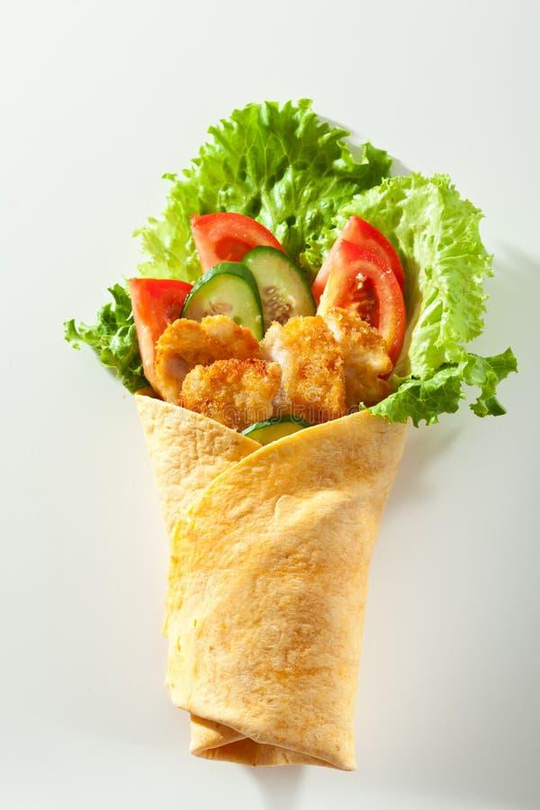 Burrito del pollo immagini stock