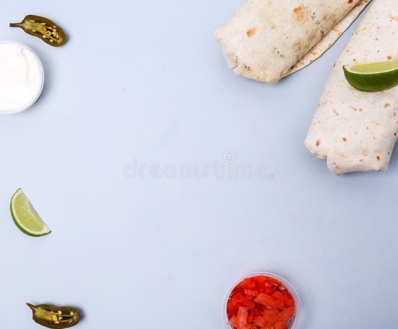 Burrito delicioso imagen de archivo libre de regalías