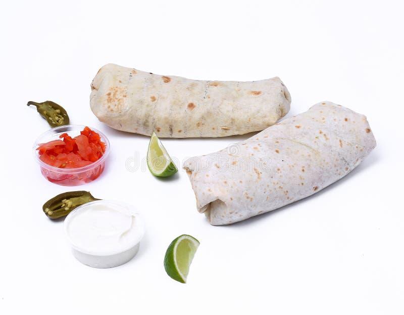 Burrito delicioso imágenes de archivo libres de regalías