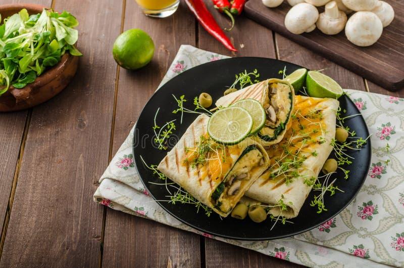 Burrito della prima colazione immagine stock