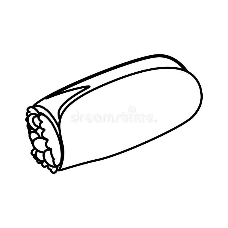 Burrito fast food ilustracji